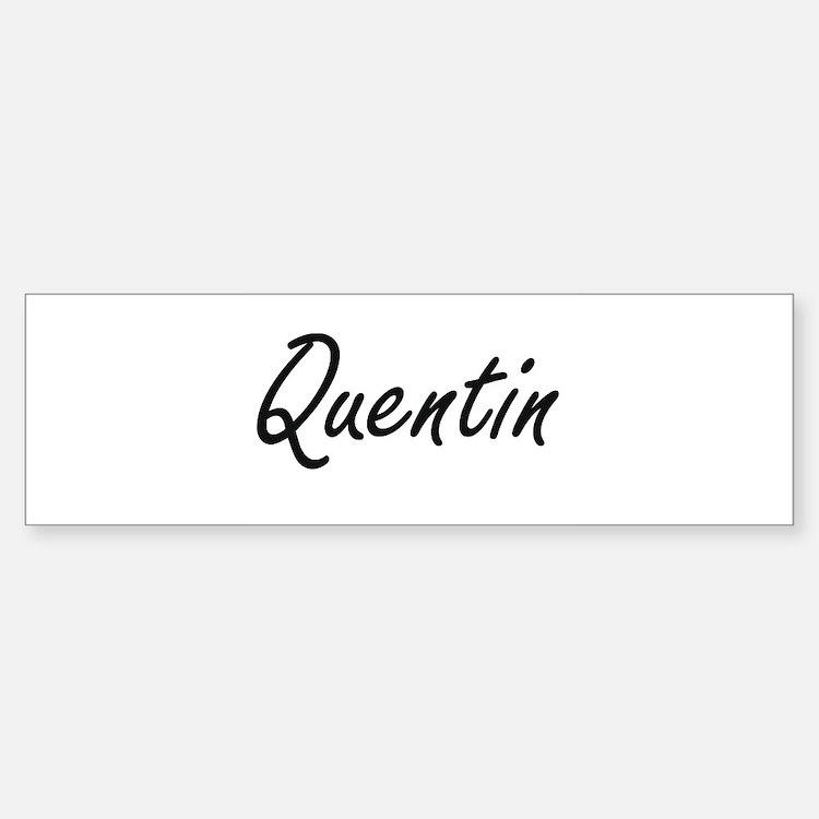 Quentin Artistic Name Design Bumper Car Car Sticker