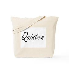 Quinten Artistic Name Design Tote Bag
