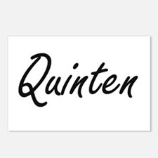 Quinten Artistic Name Des Postcards (Package of 8)