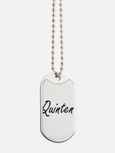 Quinten Artistic Name Design Dog Tags