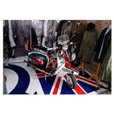 JIMMY'S SCOOTER. MOD Canvas Art