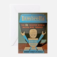 LAMBRETTA DEALER  Greeting Card