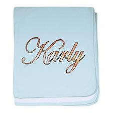 Gold Karly baby blanket