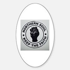 KEEP THE FAITH  Sticker (Oval)