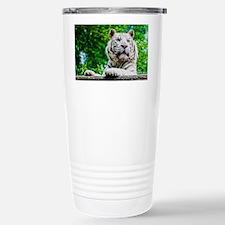 White Tiger Stainless Steel Travel Mug