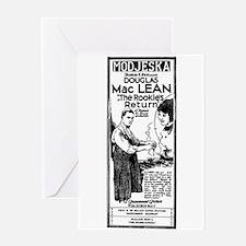 Douglas MacLean Rookie film ad Greeting Card