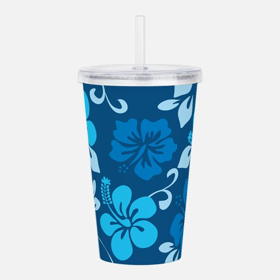 Shades of blue Hawaiia Acrylic Double-wall Tumbler