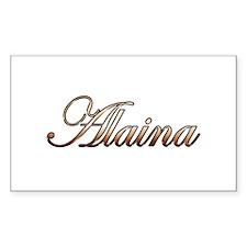 Gold Alaina Decal