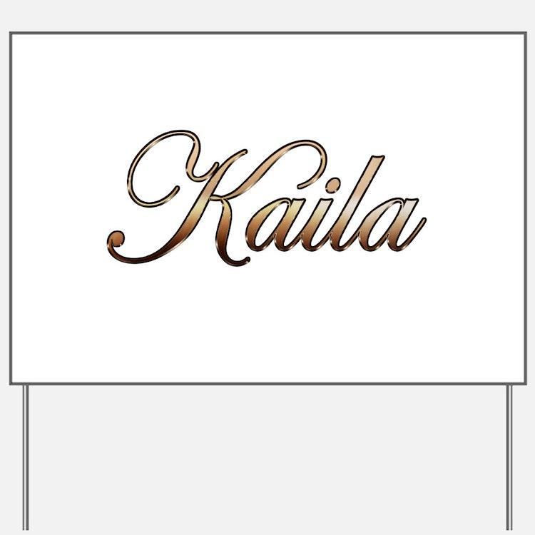 Gold Kaila Yard Sign