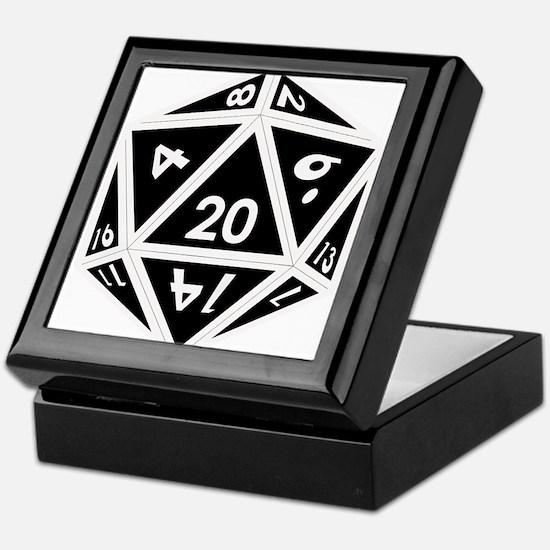 D20 black center Keepsake Box
