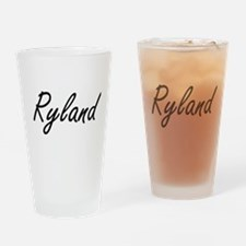 Ryland Artistic Name Design Drinking Glass