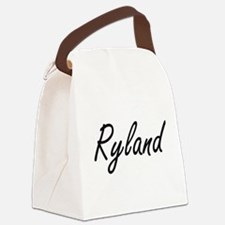 Ryland Artistic Name Design Canvas Lunch Bag