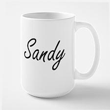 Sandy Artistic Name Design Mugs