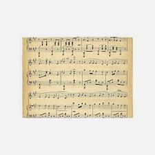 sheet music 5'x7'Area Rug
