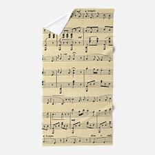 sheet music Beach Towel