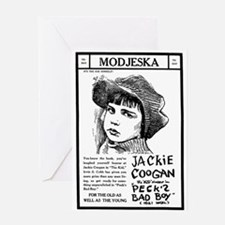 Jackie Coogan Peck's Bad Boy Greeting Card