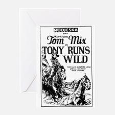 Tom Mix Tony Runs Wild Greeting Card
