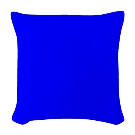 Throw Pillows Royal Blue : JUST COLORS: ROYAL BLUE Woven Throw Pillow by JUSTCOLORS