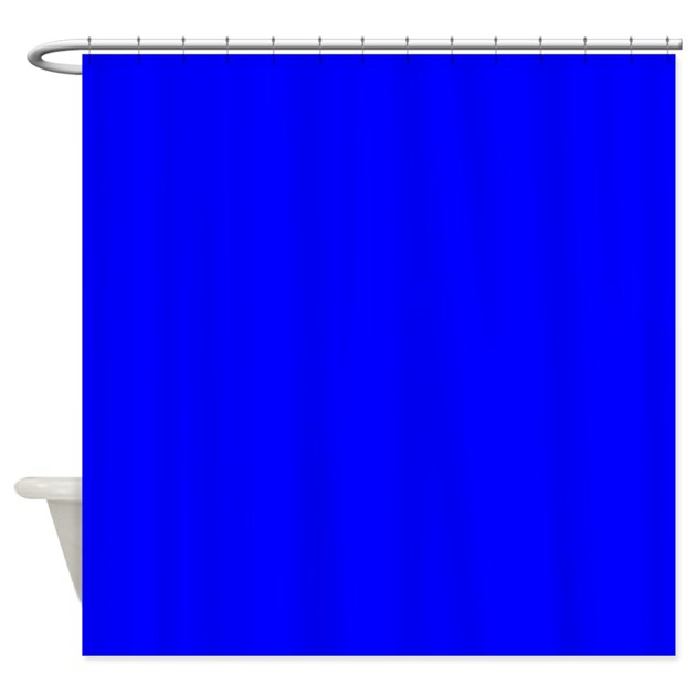 just colors royal blue shower curtain by justcolors