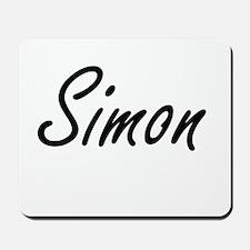 Simon Artistic Name Design Mousepad