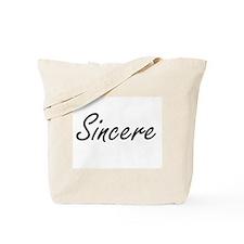 Sincere Artistic Name Design Tote Bag