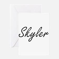 Skyler Artistic Name Design Greeting Cards