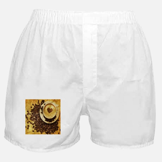 romantic modern coffee Boxer Shorts