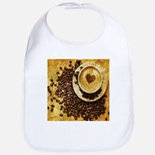 romantic modern coffee Bib