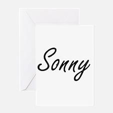 Sonny Artistic Name Design Greeting Cards