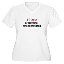 I Love GEOPHYSICAL DATA PROCESSORS T-Shirt