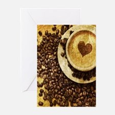 romantic modern coffee Greeting Cards