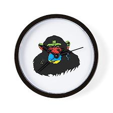 Rainbow Chimp Wall Clock