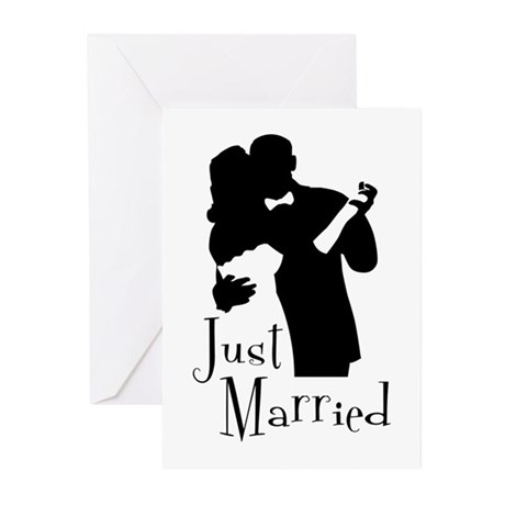 Elegant Just Married Greeting Cards (Pk of 20)