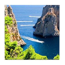 Italy, Capri Tile Coaster
