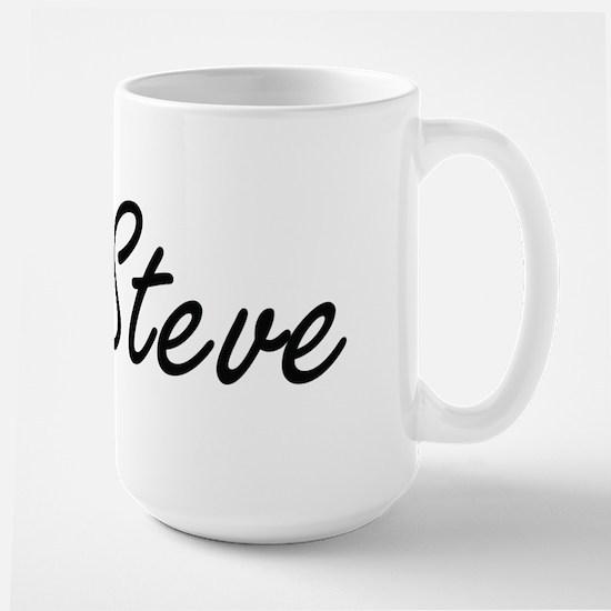 Steve Artistic Name Design Mugs