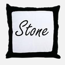 Stone Artistic Name Design Throw Pillow
