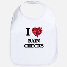I Love Rain Checks Bib