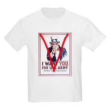 V Uncle Sam Poster T-Shirt