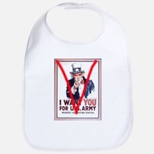 V Uncle Sam Poster Bib