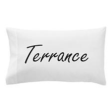Terrance Artistic Name Design Pillow Case