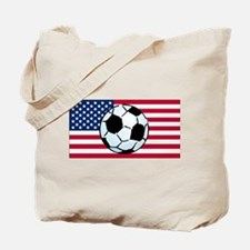 USA Soccer Flag Tote Bag