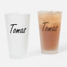 Tomas Artistic Name Design Drinking Glass