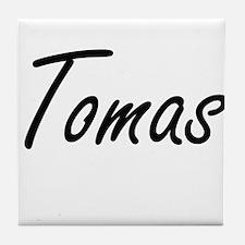 Tomas Artistic Name Design Tile Coaster