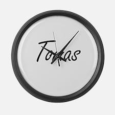 Tomas Artistic Name Design Large Wall Clock