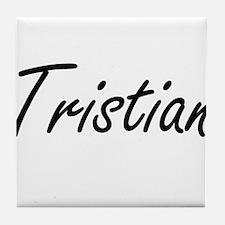 Tristian Artistic Name Design Tile Coaster