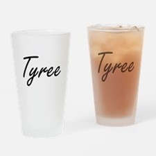 Tyree Artistic Name Design Drinking Glass