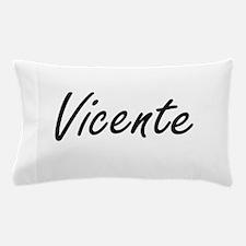 Vicente Artistic Name Design Pillow Case