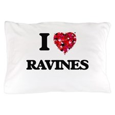 I Love Ravines Pillow Case