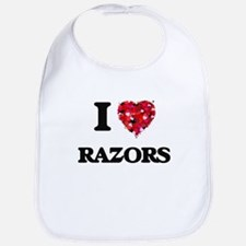 I Love Razors Bib