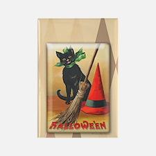 TLK011 Halloween Cat Rectangle Magnet